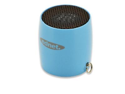 ednet MiniMax Bluetooth Lautsprecher 3W, Blau