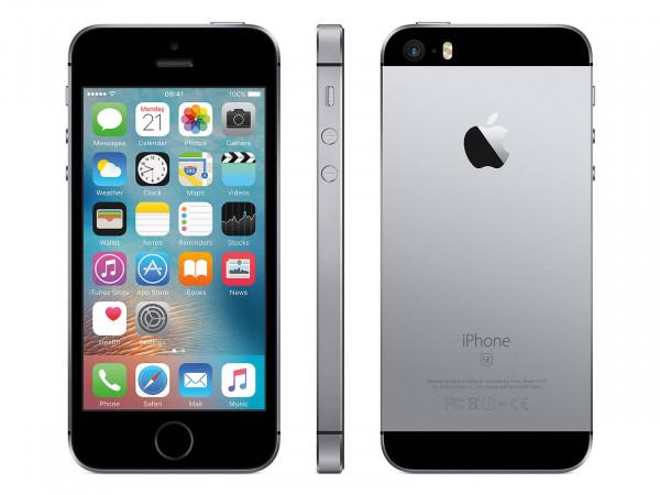 "Apple iPhone SE 16GB | Spacegrau | 4"" Retina Display | Druckstelle-Gelb"