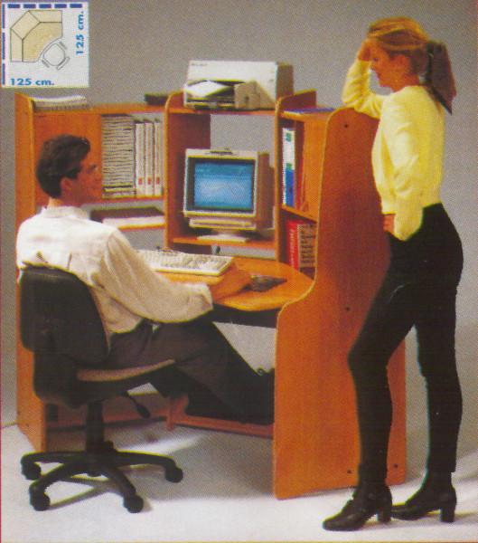 ACTIU Computer Arbeitsplatz Personal 700 | Buche-Grafit