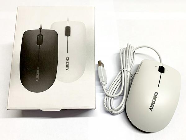 CHERRY MC 2000 Infrarot Maus mit Tilt-Wheel Technologie USB | Weiss | FABRIKNEU
